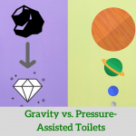 Gravity vs pressure-assisted toilets